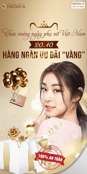 Chúc mừng ngày Phụ Nữ Việt Nam 20/10 - Hàng ngàn ưu đãi vàng - Banner dọc