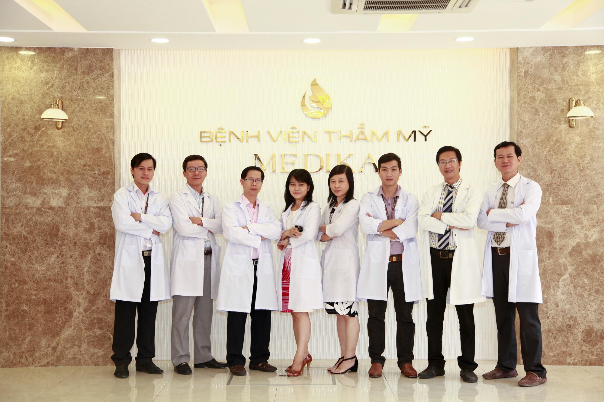Đội ngũ bác sĩ tại BVTM MEDIKA