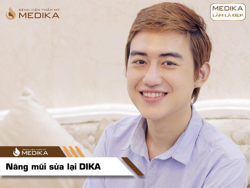 Phẫu thuật nâng mũi sửa lại DIKA ở bệnh viện thẩm mỹ MEDIKA