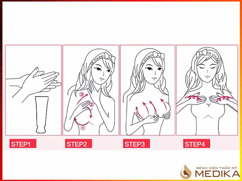 Massage ngực sau khi nâng ngực nội soi