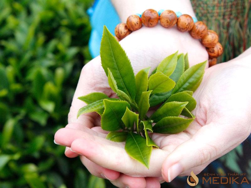 trà xanh có thể giúp da nhanh chóng hồi phục