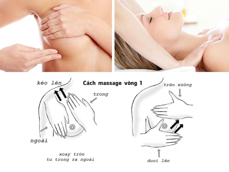 Cách massage sau khi nâng vòng 1