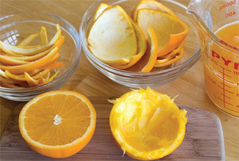 Dùng vỏ cam nguyên liệu làm trắng răng