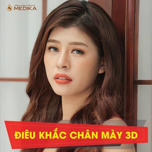 Phương pháp điêu khắc chân mày 3D Bệnh viện thẩm mỹ MEDIKA.vn