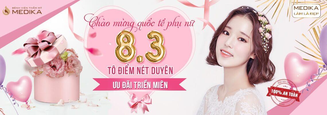 Chào mừng quốc tế phụ nữ Việt Nam 8/3 - Tô điểm nét duyên - Ưu đãi triền miên ở MEDIKA banner ngang