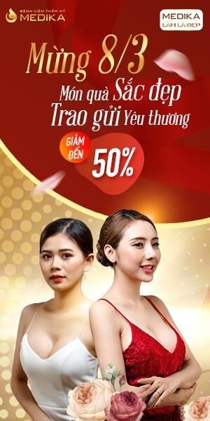 Mừng 8/3 món quà sắc đẹp - Trao gửi yêu thương - Banner dọc - MEDIKA.vn