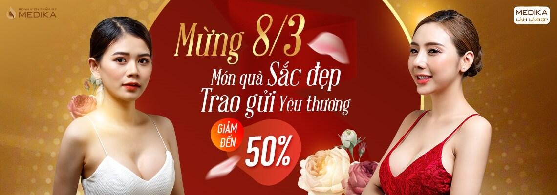 Mừng 8/3 món quà sắc đẹp - Trao gửi yêu thương - Banner ngang - MEDIKA.vn