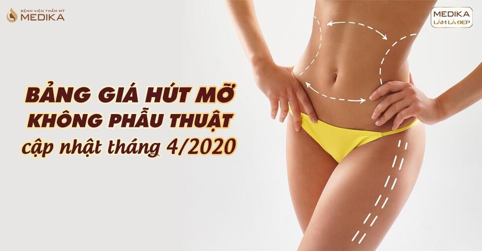 Bảng giá hút mỡ không phẫu thuật cập nhật tháng 4/2020