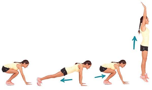 Bài tập Burpee giúp giảm cân hiệu quả trong vòng 7 ngày