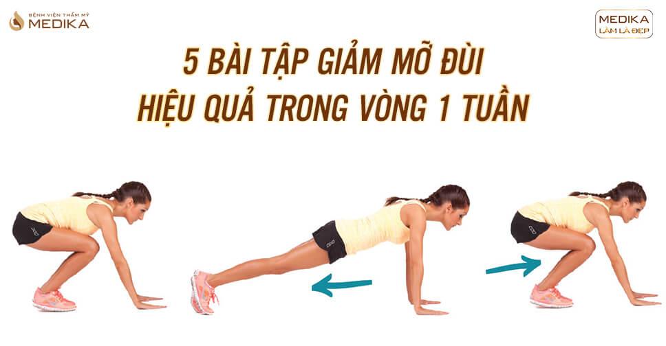 5 bài tập giảm mỡ đùi hiệu quả trong vòng 1 tuần