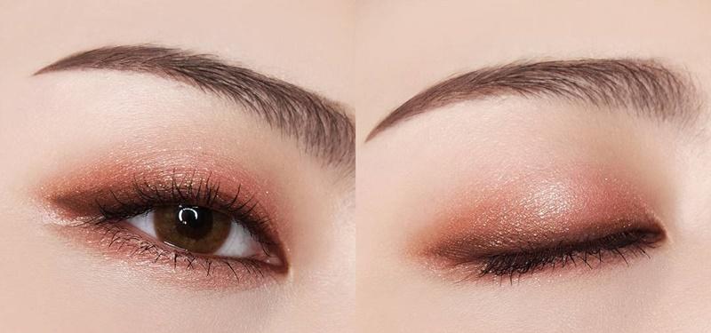 sử dụng màu mắt tone nhẹ