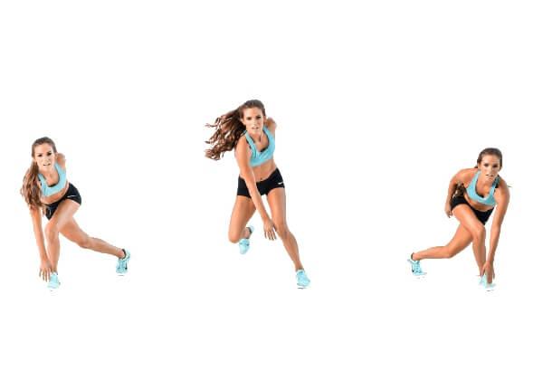 Bài tập Speed skaters giúp giảm cân hiệu quả: