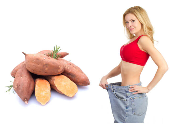 Cách giảm cân bằng khoai lang trong vòng 1 tuần song song với các bài tập thể dục giảm cân