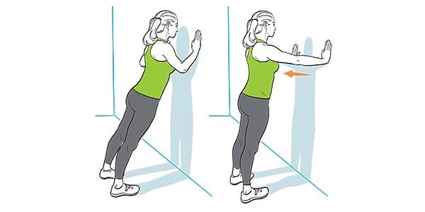 Bài tập chống đẩy tường hay còn được gọi là wall push up