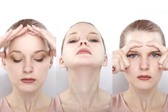 Massage mặt nhẹ nhàng giúp giảm mỡ