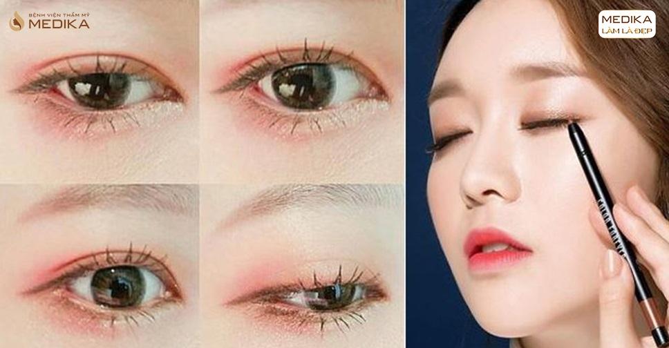 Make up mắt một mí 8 kĩ thuật trông to tròn hơn