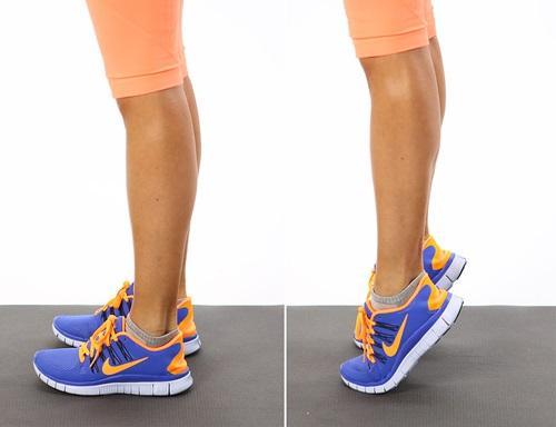 giảm mỡ đùi với động tác kiễng chân