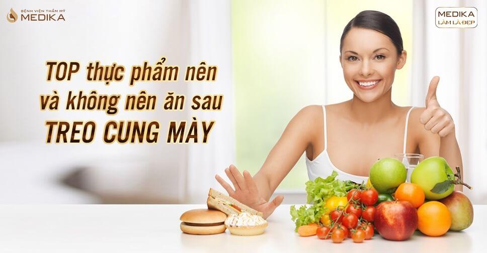 Treo cung mày những thực phẩm nên và không nên ăn