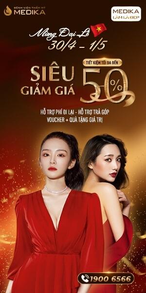 Mừng đại lễ 30/4 - 1/5 Siêu giảm giá - Tiết kiệm tối đa - Banner dọc - MEDIKA.vn