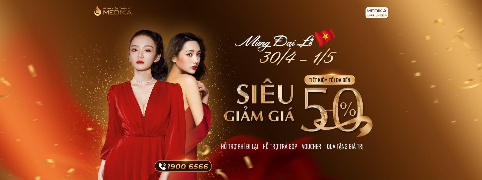 Mừng đại lễ 30/4 - 1/5 Siêu giảm giá - Tiết kiệm tối đa - Banner ngang - MEDIKA.vn