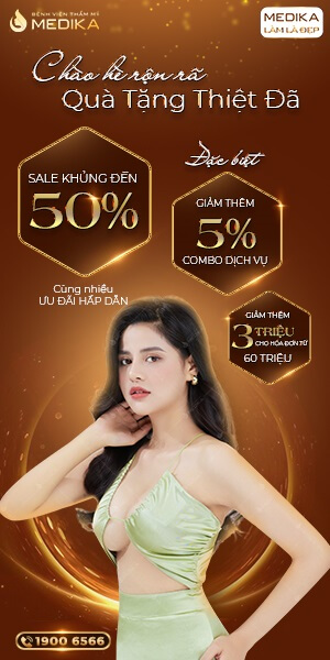 Chào hè rộn rã - Quà tặng thiệt đã - Sale khủng tới 50% - Banner dọc - MEDIKA.vn